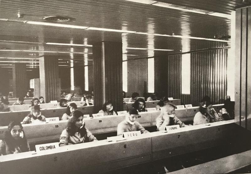 Centro de Conmutación Internacional de ENTel, inaugurado en 1969. Fuente: ENTel, 1981.