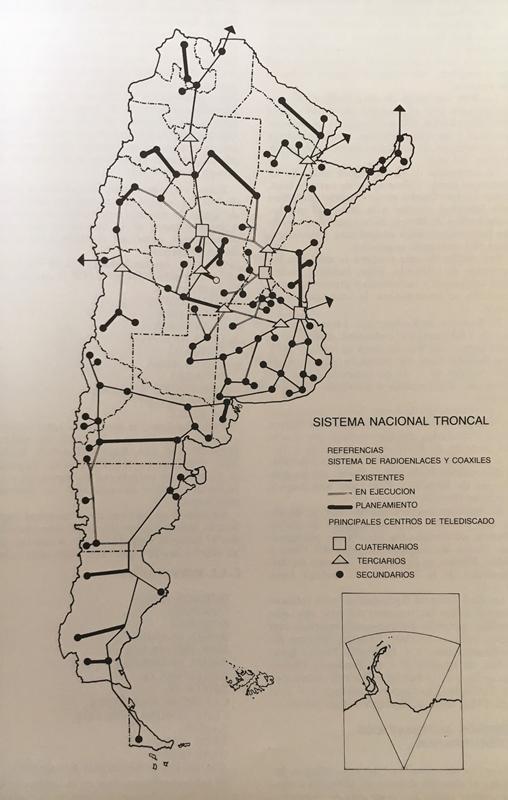 Sistema Nacional Troncal de ENTel a 1981. Fuente: ENTel, 1981.